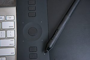 Graphics Tablet and Keyboard