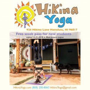 Hikina Yoga Print Ad